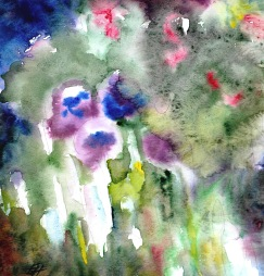 enchanted garden, watercolour