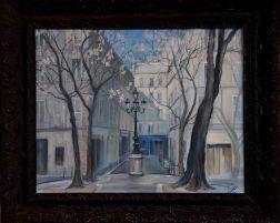spring in Saint-Germain, oil on canvas, 30 x 40 cm