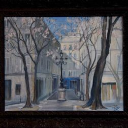spring in Saint-Germain, oil on canvas, 30 x 40 cm