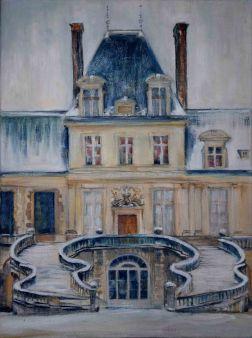 château de Fontainebleau, huile sur toile