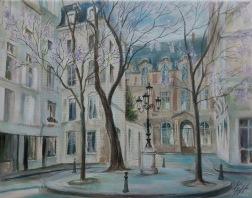 Place Furstenberg, Saint-Germain, Paris oil on canvas, 40x 50 cm